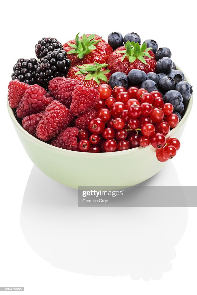 Assorted bowl of fresh berries