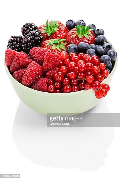 Assorted bowl of fresh berries