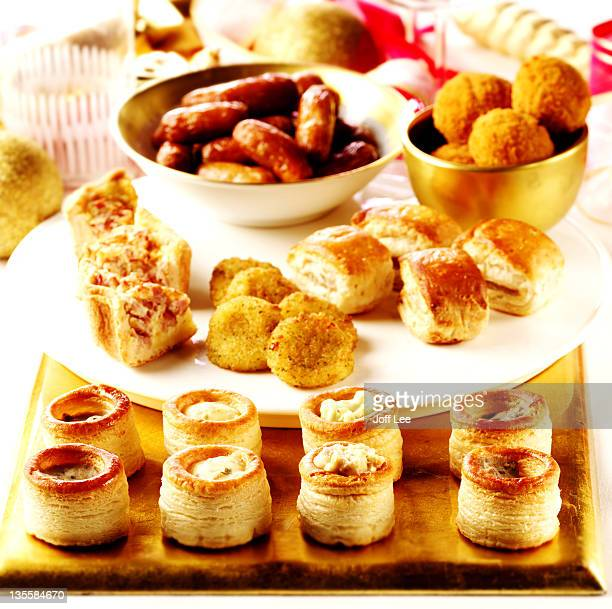 Assorted canapes and party food