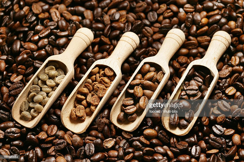 Assorted coffee beans : Stock Photo
