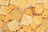closeup of assorted cracker background