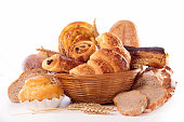 assorted croissand and bread