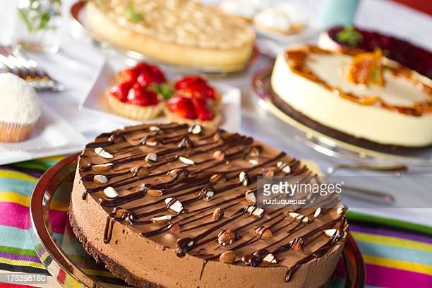 Auswahl an desserts