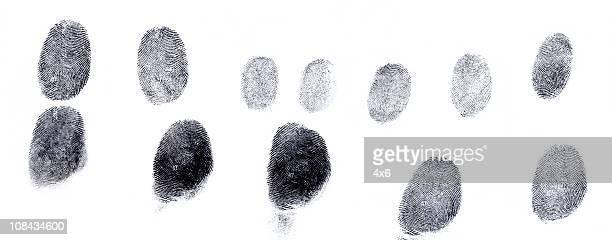 Verschiedene Fingerabdrücke