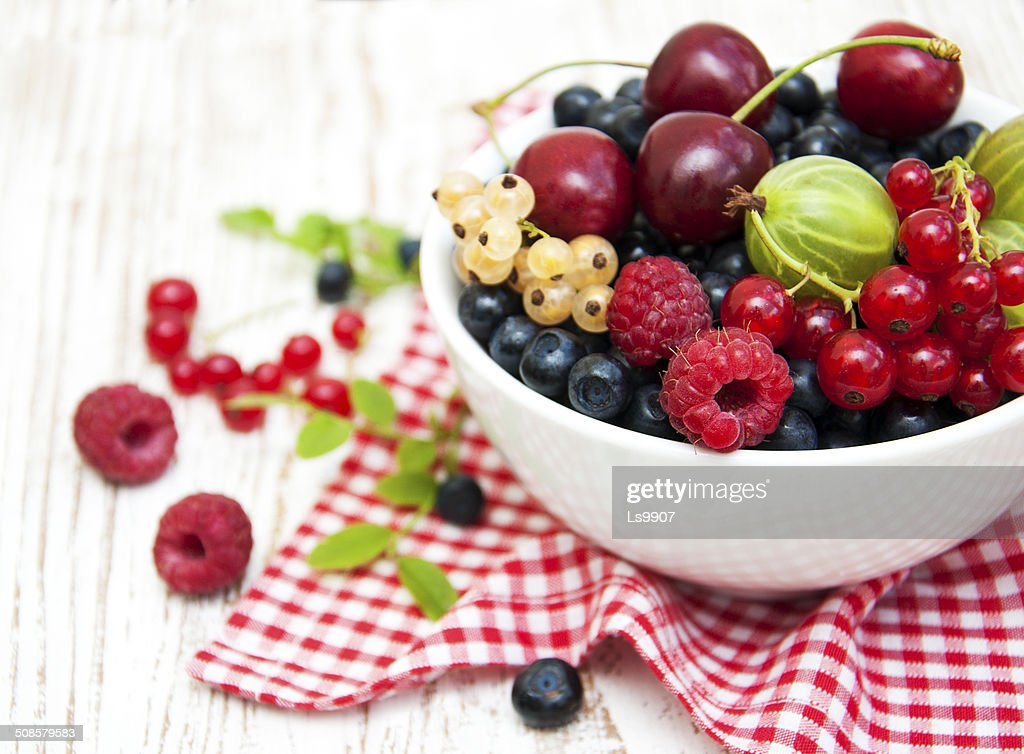 Assorted fresh berries : Stock Photo