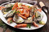 assorted fresh seafood platter