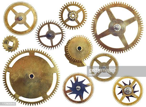 Assorted gear wheels
