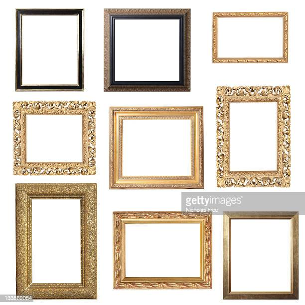 Assorted Gold Frames