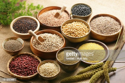 Assorted grains : Stock Photo