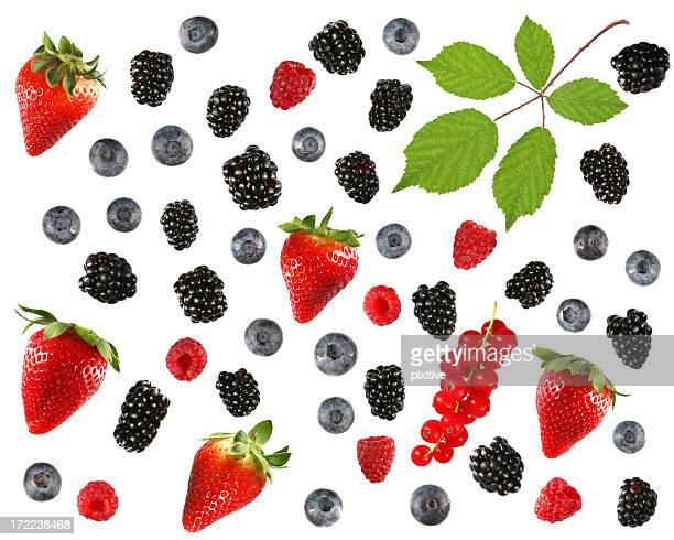 Assorted isolated berries