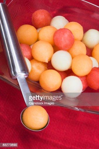 Assorted melon balls
