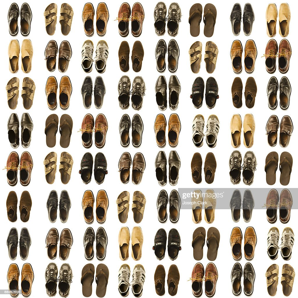 Assorted men's shoes