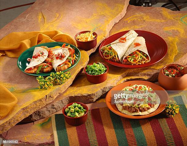 Assorted Mexican dishes