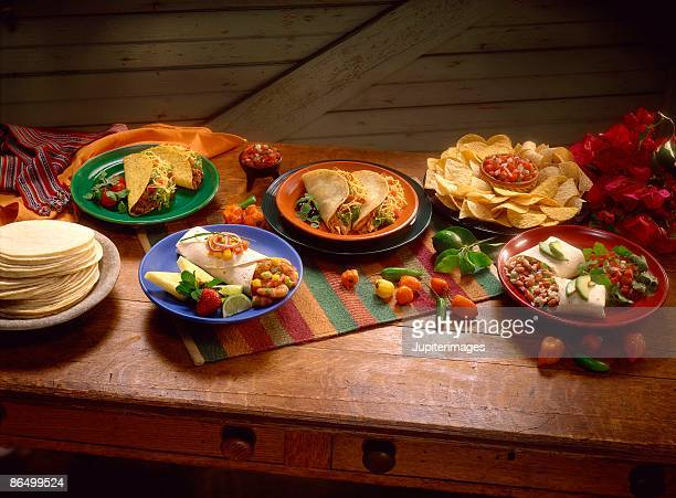 Assorted Mexican entrees
