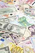 Assorted paper currency