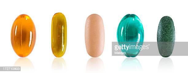 Assorted pills with clipping path