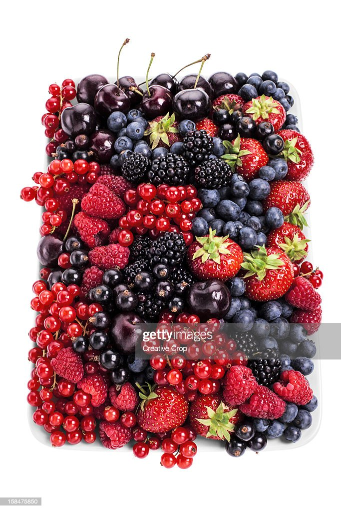 Assorted plate of fresh berries