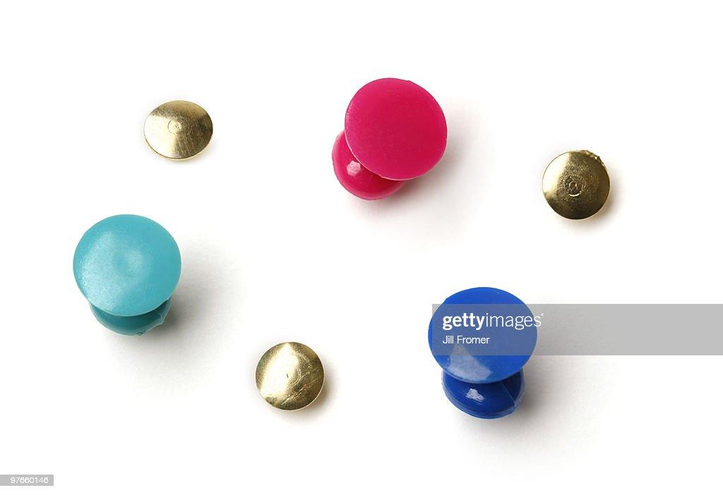 Assorted Push Pins and Thumbtacks