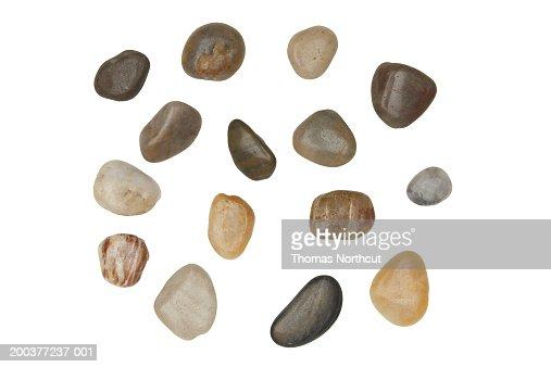 Assorted river rocks