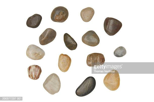 Assorted river rocks