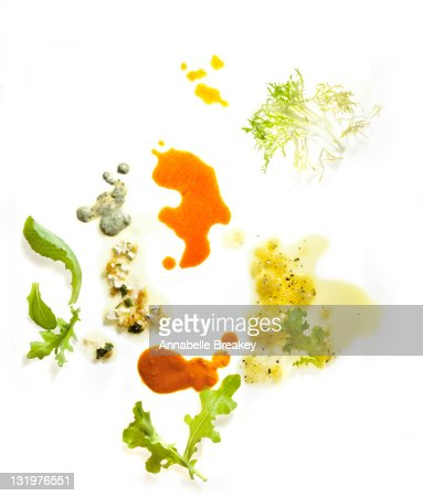 Assorted Salad Dressing drizzled with Greens