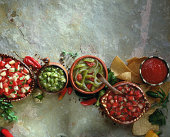 Assorted salsas