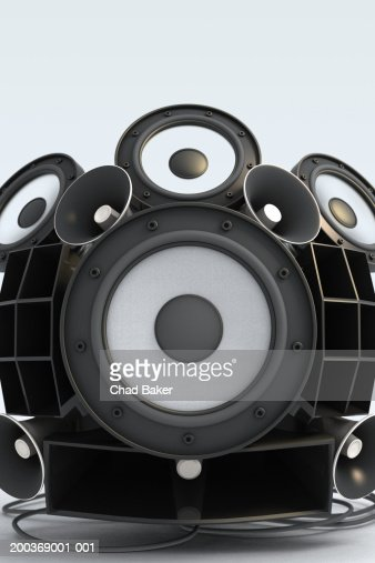 Assorted speakers (Digital) : Stock-Foto