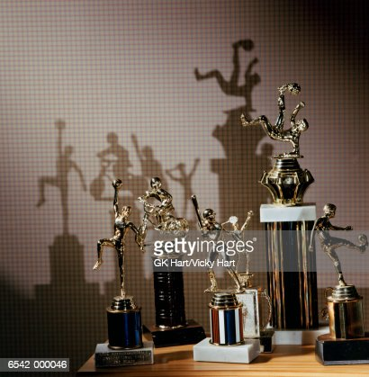 Assorted Sport Trophies : Stock Photo