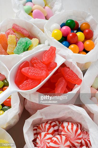 Assorted sweets in paper bags (USA)