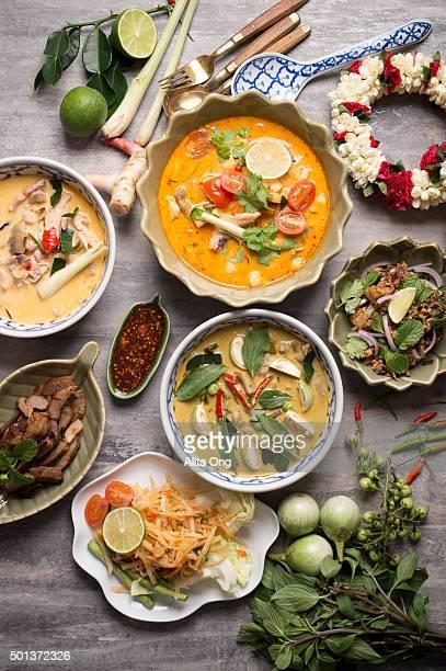 Assorted Thai food