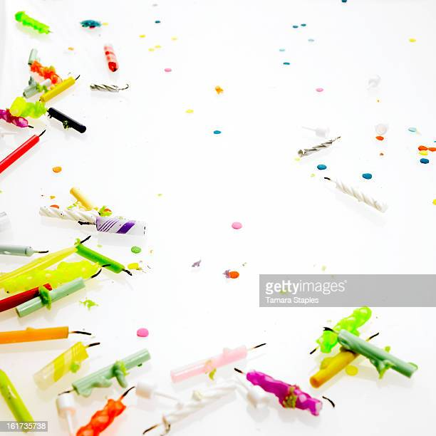 Assorted Used Birthday Candles