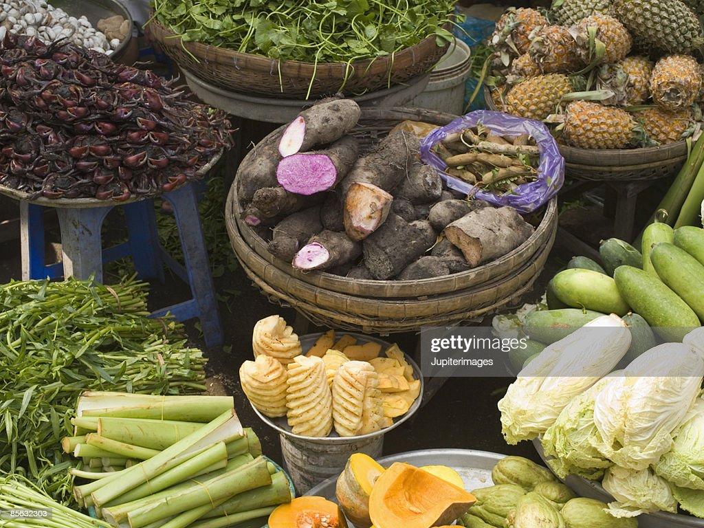 Assorted Vietnamese produce : Stock Photo