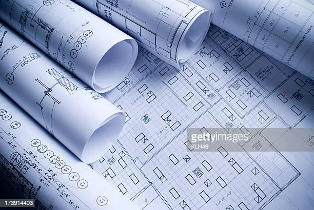 Verschiedene architektonische Zeichnungen