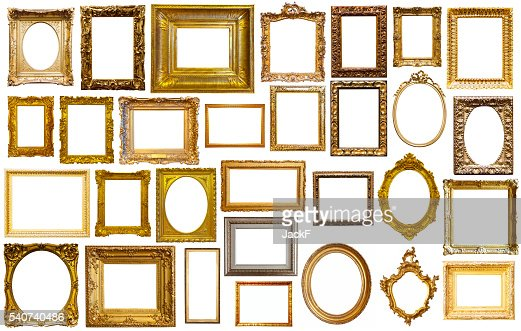 assortment of art frames : Stock Photo