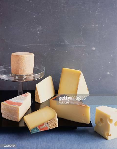 Assortment of artisan cheese