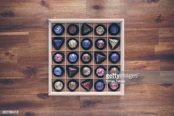 Assortment of artisan chocolates