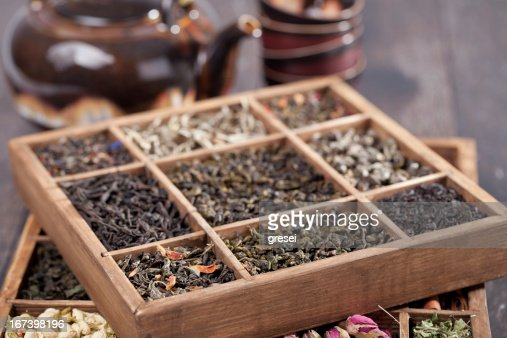 assortment of dry tea : Stockfoto