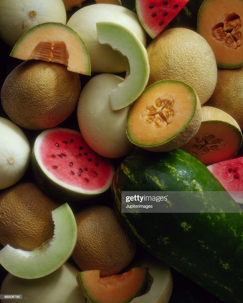 Assortment of melons : Stock Photo