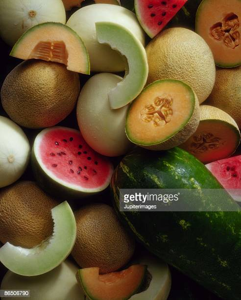 Assortment of melons