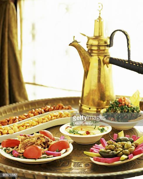 Assortment of meze appetizers