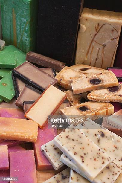 Assortment of organic handmade soaps