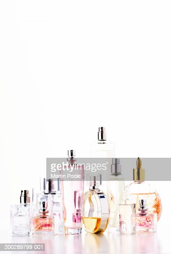 Assortment of perfume bottles