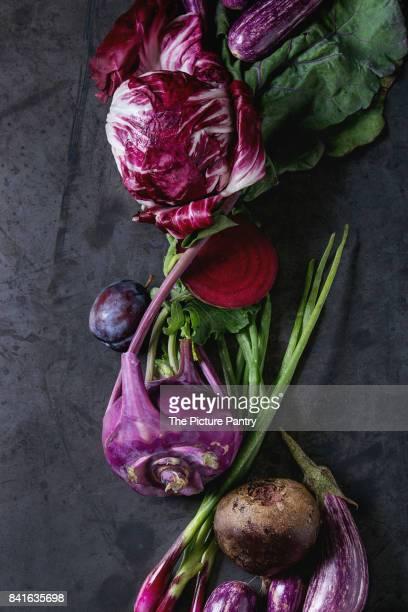 Assortment of purple vegetables