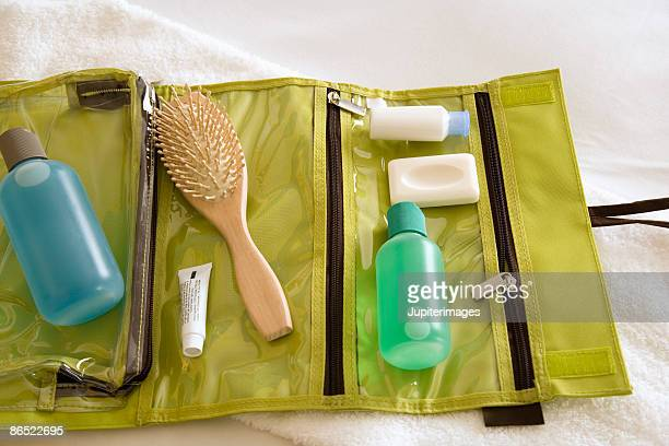 Assortment of toiletries and travel kit