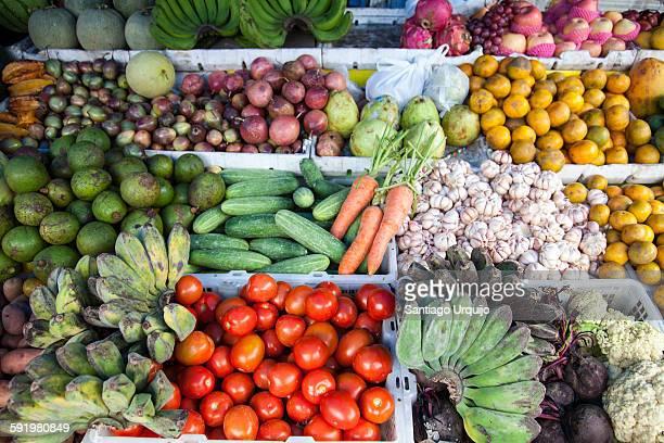 Assortment of vegetables on a market