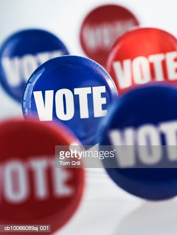 Assortment of 'vote' badges : Stock Photo