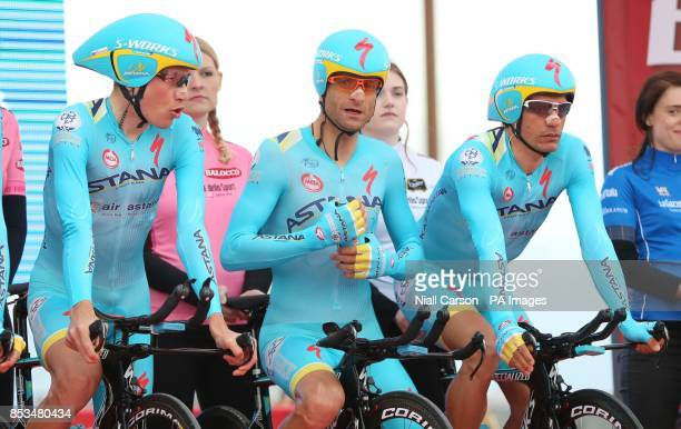 Astana Pro Team's Michele Scarponi at the start of stage one of the 2014 Giro D'Italia
