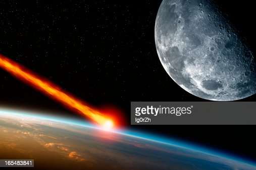 Asteriod impact : Stock Photo