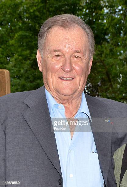 Asterix characters cocreator/cartoonist Albert Uderzo attends the 'Oziriz' New Game Launch at the Parc Asterix on June 2 2012 in Paris France
