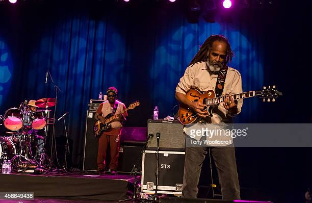 Aston Barrett and Melvin Glover of The Wailers performs at 02 academy on November 8 2014 in Birmingham England